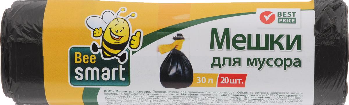 Мешки для мусора Beesmart, 30 л, 20 шт403008/403009Мешки Beesmart, выполненные извысокопрочного и эластичного полиэтилена, обеспечатчистоту и гигиену в квартире. Они удобны для сбора иутилизации мусора,занимают мало места, практичны в использовании. Благодаря удобным размерам, мешки легко вкладываются в ведро.Количество: 20 шт.