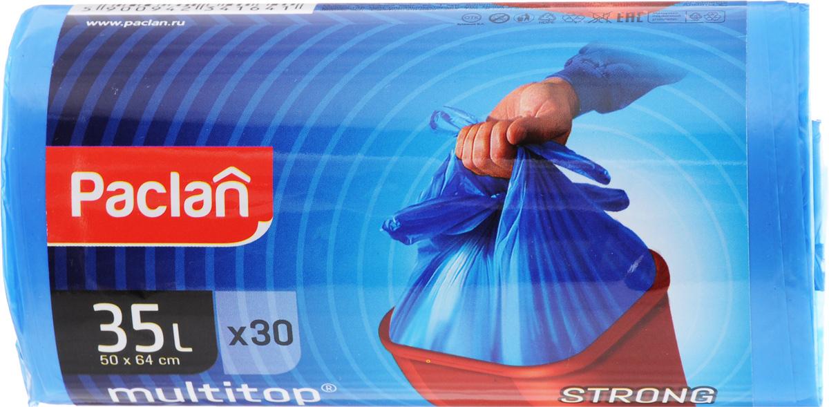 Мешки для мусора Paclan Multitop, 35 л, 30 штNN-604-LS-BUМешки Paclan Multitop, выполненные из высококачественного полиэтилена, предназначены для сбора, хранения и утилизации бытового мусора. Очень прочные и удобные. Четыре вырезанных рога облегчают размещение мешка в ведре и его завязывание. Размер мешка: 50 х 64 см. Количество: 30 шт.