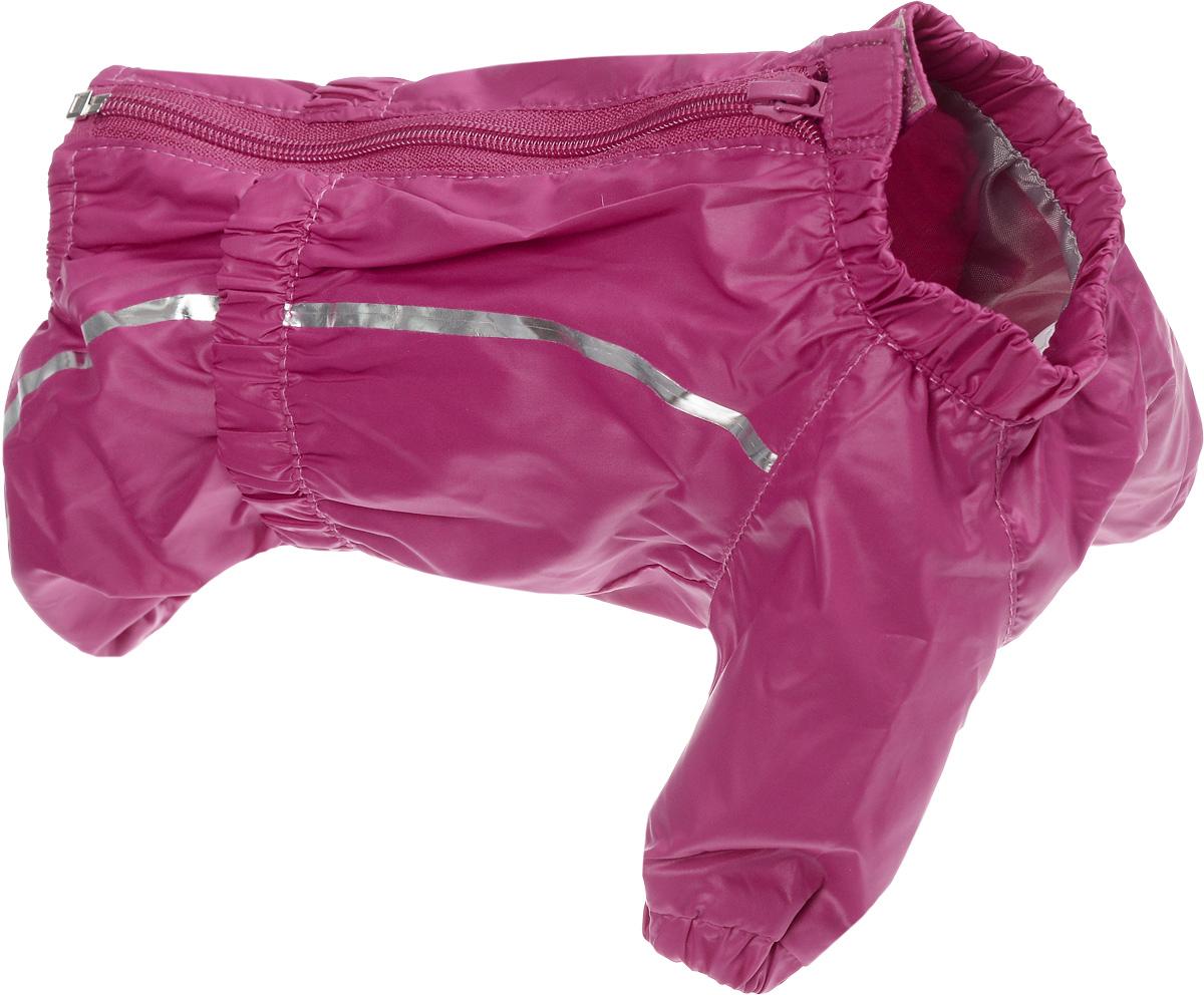 Комбинезон для собак Dogmoda Альпы, для девочки, цвет: красный. Размер 1 (S). DM-160102DM-160102-1_фуксияКомбинезон для собак Dogmoda Альпы отлично подойдет для прогулок поздней осенью или ранней весной.Комбинезон изготовлен из полиэстера, защищающего от ветра и осадков, с подкладкой из флиса, которая сохранит тепло и обеспечит отличный воздухообмен. Комбинезон застегивается на молнию и липучку, благодаря чему его легко надевать и снимать. Ворот, низ рукавов и брючин оснащены внутренними резинками, которые мягко обхватывают шею и лапки, не позволяя просачиваться холодному воздуху. На пояснице имеется внутренняя резинка. Изделие декорировано серебристыми полосками и надписью Dogmoda.Благодаря такому комбинезону простуда не грозит вашему питомцу и он не даст любимцу продрогнуть на прогулке.