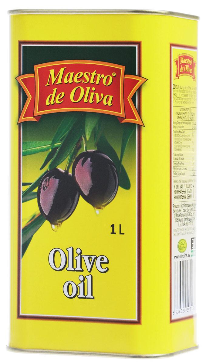 Maestro de Oliva масло оливковое, 1 л0120710Оливковое рафинированное масло Maestro de Oliva с добавлением масла нерафинированного. Оливковое масло от Maestro de Oliva - известный и качественный продукт, отмеченный как специалистами, так и обычными потребителями. Масло под этой маркой на протяжении 13 последних лет выигрывало разные престижные премии и награды, как Товар года, а также награждено двумя звездами отличного вкуса престижного конкурса продуктов питания, организованного Международным институтом вкуса и качества в Брюсселе Superior award taste.