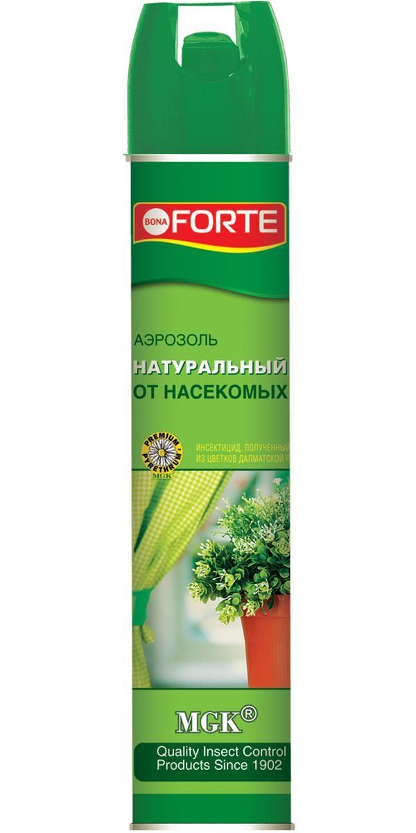 Натуральное инсектицидное средство Bona Forte, аэрозоль, 300 млBF-04-22-010-1Для моментального уничтожения летающих насекомых-вредителей. Не вызывает привыкания у насекомых. Безопасная обработка - после воздействия натурального пиретрума на насекомых, действующие вещества быстро разлагаются до экологически безопасных остатков, не причиняя ущерб человеку и окружающей среде.Товар сертифицирован.