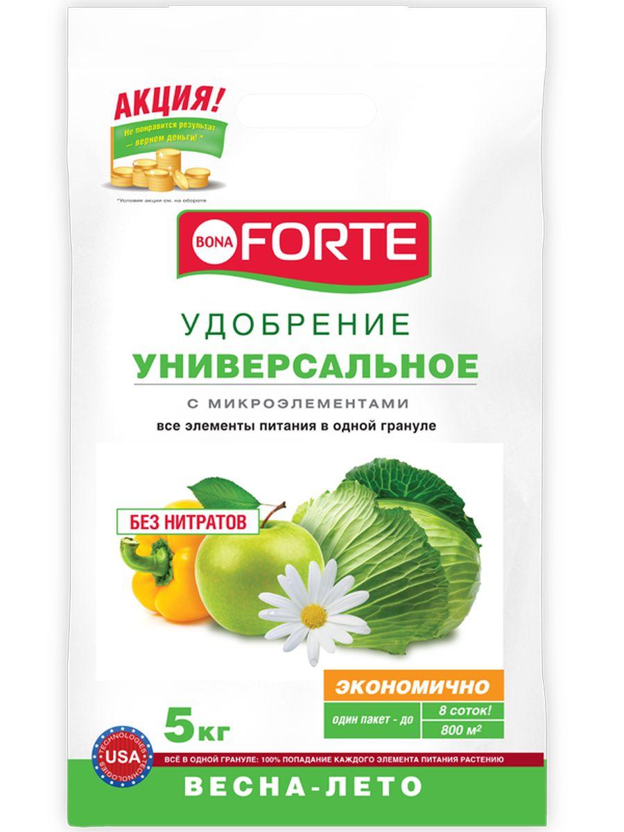 Удобрение комплексное гранулированное Bona Forte, универсальное марка NPK 15-15-15 с микроэлементами, 5 кг391602Все элементы в одной грануле, равномерное внесение удобрения, безопасно - без нитратов, экономичное расходование , отличный результат.