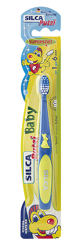 Зубная щетка Silca Baby RabbitSatin Hair 7 BR730MNЗубная щетка Silca Baby Rabbit не травмирует нежные детские зубки. Удобная ручка с изображением кролика для фиксации пальчиков. Высокое качество обработки щетины: тщательная шлифовка и закругление - делают щетку безопасной.Характеристики: Производитель: Германия. Товар сертифицирован.Немецкие лечебно-профилактические зубные пасты Silca обеспечивают комплексный уход за зубами и деснами, максимально учитывая индивидуальные особенности состояния полости рта потребителя. Ассортимент паст Silca настолько широк, что каждый сможет подобрать зубную пасту по вкусу. В состав паст входят экстракты трав, витамины, минералы и натуральные компоненты, обладающие лечебными и косметическими свойствами.