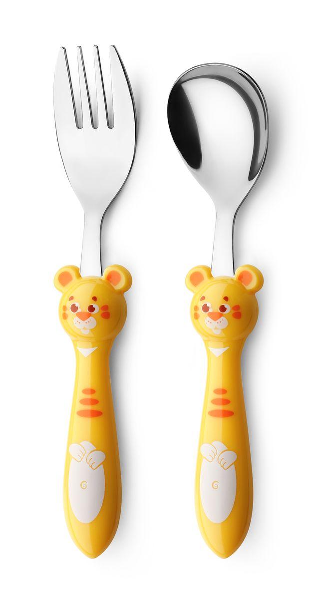 Набор детских столовых приборов Apollo Kiddy, цвет: желтый, 2 предметаKDY-01_желтВ набор Kiddy входят столовая ложка и столовая вилка, выполненные из высококачественной нержавеющей стали. Он обязательно понравится вашему малышу. Набор предназначен для детей от 3-х лет
