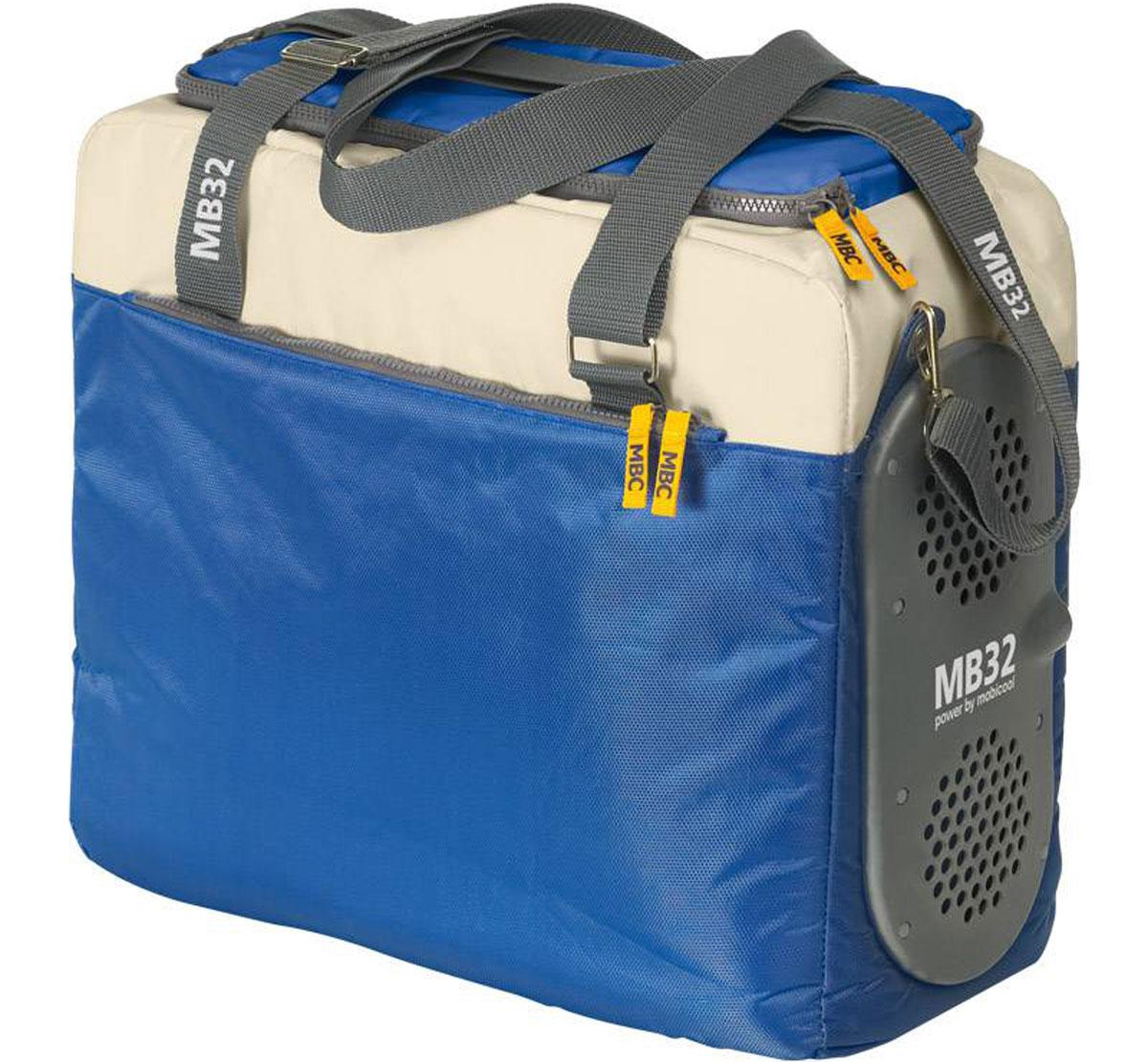 MOBICOOL MB32 DC термоэлектрическая сумка-холодильникA80542SMOBICOOL MB32 DC вместительная и надежная термоэлектрическая сумка-холодильник объемом 32 литра. Термосумка может поддерживать температуру на 15 °C ниже температуры окружающей среды. Внешний карман на молнии, ручки для переноски и отстегивающийся плечевой ремень прекрасно дополняют данную модель вместе с насыщенным цветом. Также имеется удобный U-образный доступ на молнии.