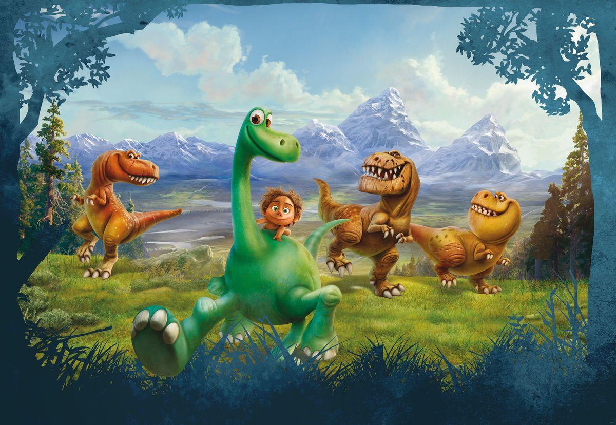 Фотообои Komar Добрые динозавры, 3,68 х 2,54 мRG-D31SБумажные фотообои известного бренда Komar позволят создать неповторимый облик помещения, в котором они размещены. Фотообои наносятся на стены тем же способом, что и обычные обои. Благодаря превосходной печати и высококачественной основе такие обои будут радовать вас долгое время. Фотообои снова вошли в нашу жизнь, став модным направлением декорирования интерьера. Выбрав правильную фактуру и сюжет изображения можно добиться невероятного эффекта живого присутствия.Ширина рулона: 3,68 м.Высота полотна: 2,54 м. Клей в комплекте.