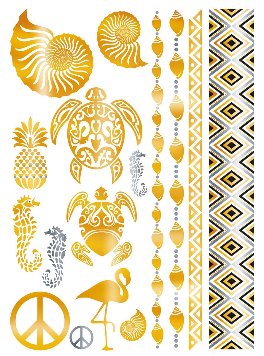 Herma Наклейки для тела Flash Tattoo Карибы -  Наклейки