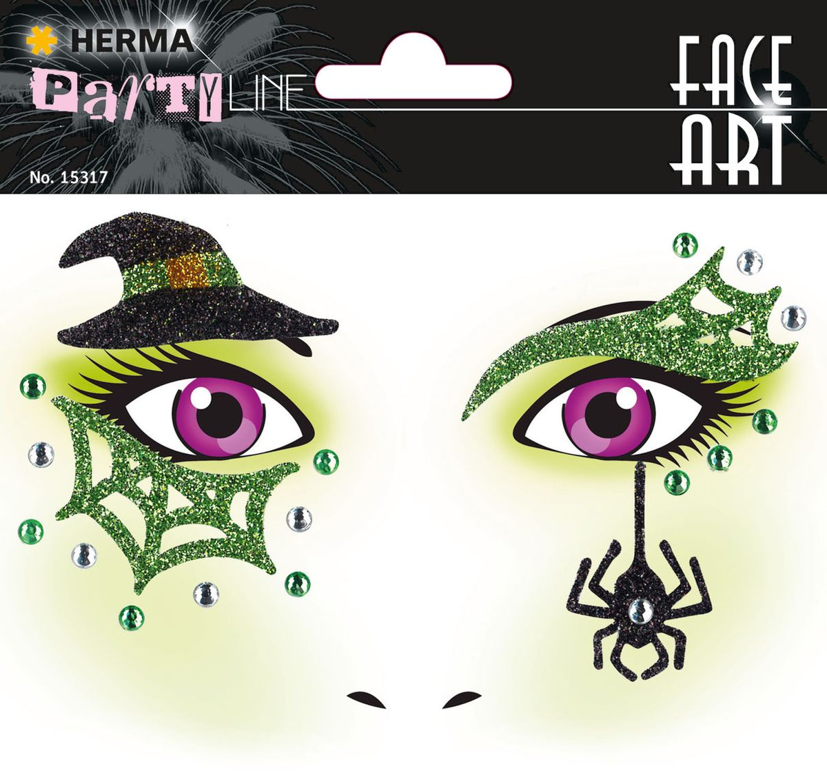 Herma Наклейки на лицо Face Art Ведьмочка