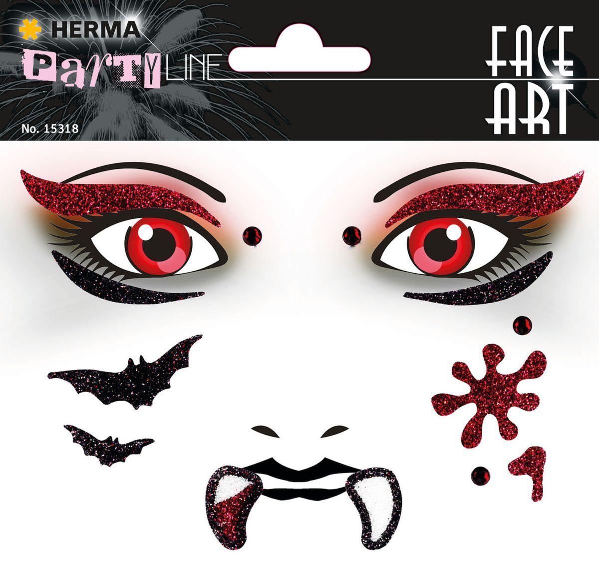 Herma Наклейки на лицо Face Art Вампир -  Наклейки