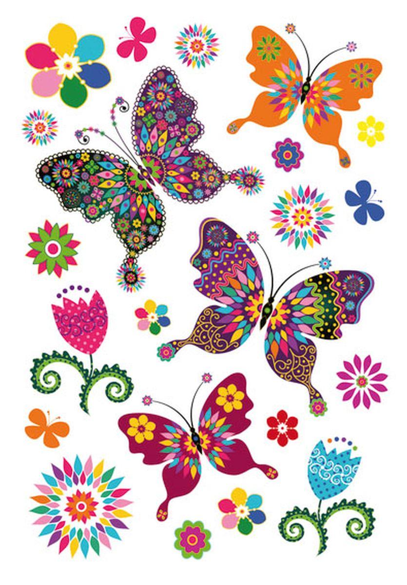 Herma Наклейки Magic Волшебные бабочкиUTT-91Наклейки из тонкого пластика с обсыпкой из блёсток. На рисунок наклейки нанесены разноцветные блестки, позволяя ему переливаться и блестеть на свету.