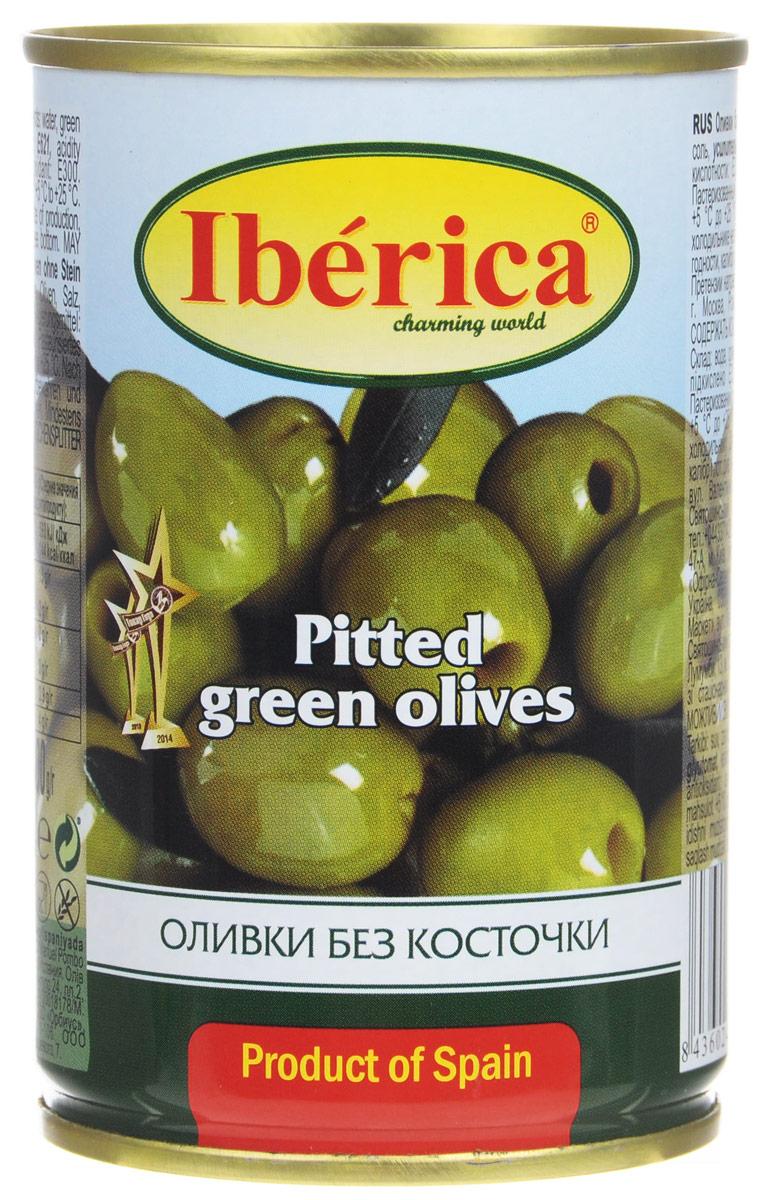 Iberica оливки без косточки, 300 г каперсы iberica бутоны