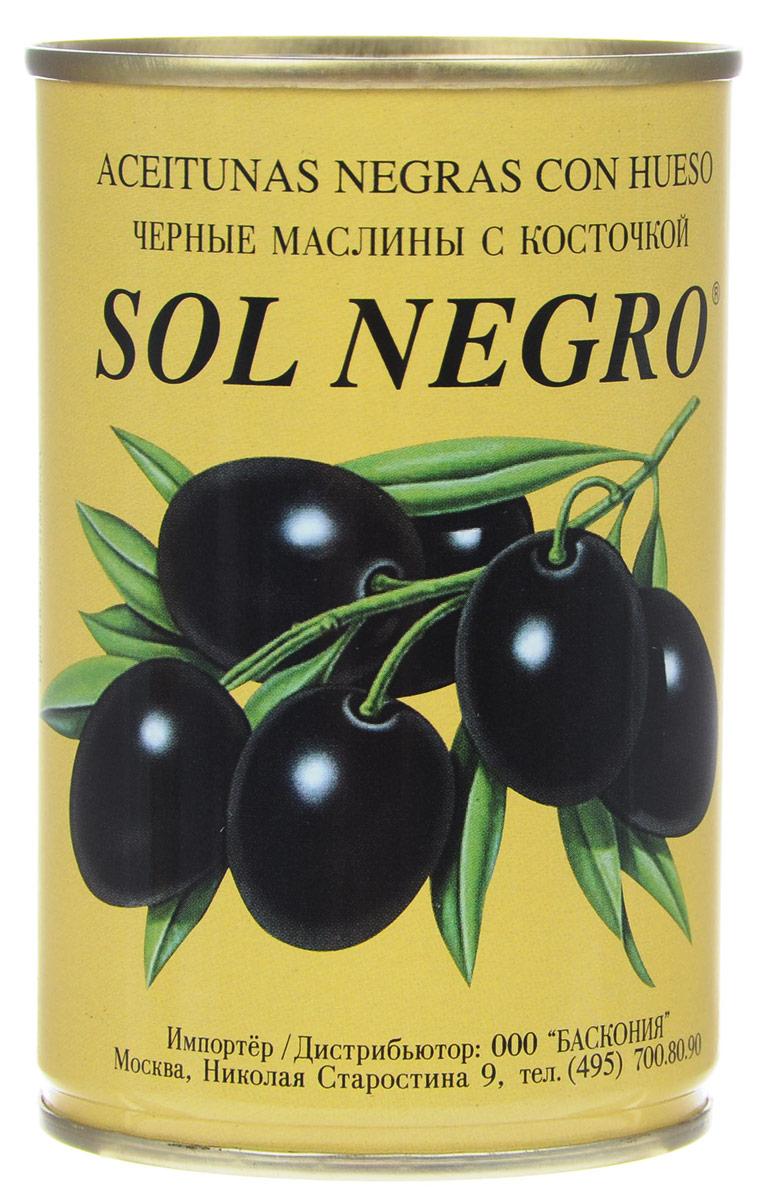 Sol Negro маслины черные с косточкой, 360 г24Превосходные черные маслины Sol Negro с косточкой. Оливки и маслины Sol Negro - давно знакомый потребителям бренд, один из лидеров в данной категории продуктов.
