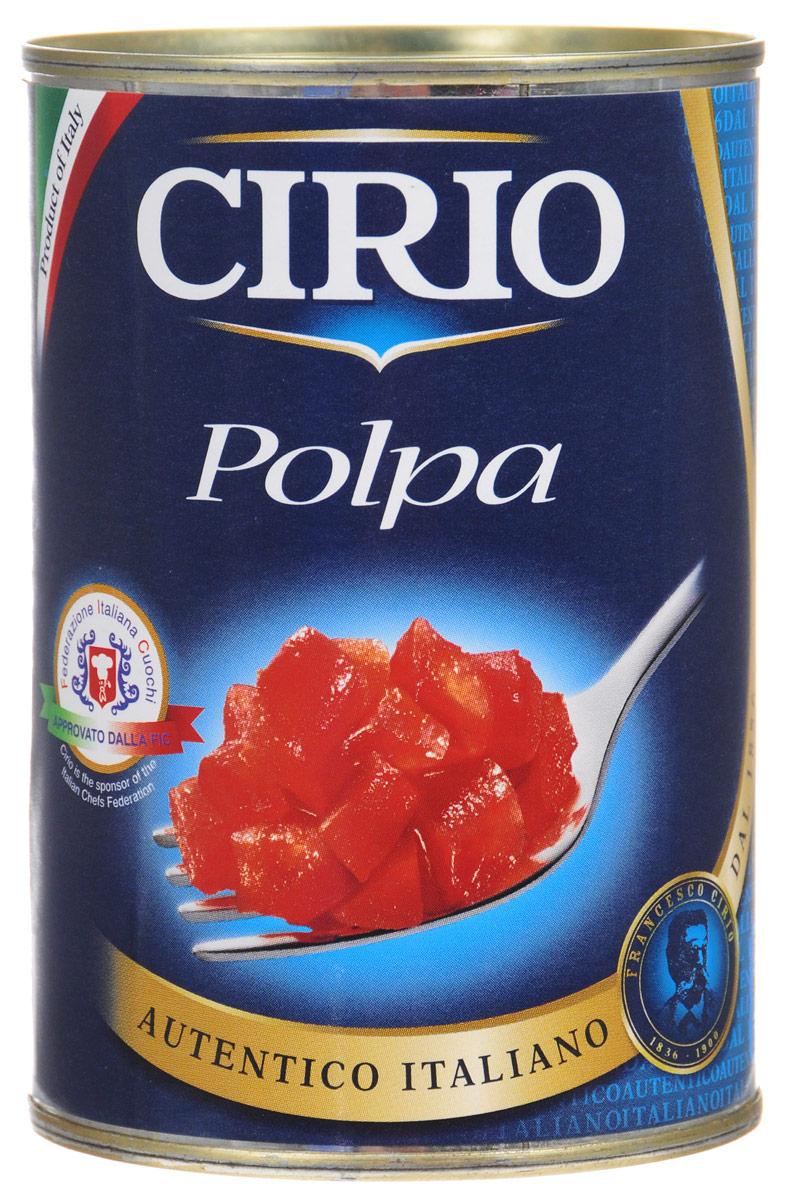 Cirio Polpa томаты очищенные резаные, 400 г0120710Cirio Polpa- очищенные и мелко нарезанные на кусочки томаты. Идеально подходят в качестве заправки для макаронных изделий.