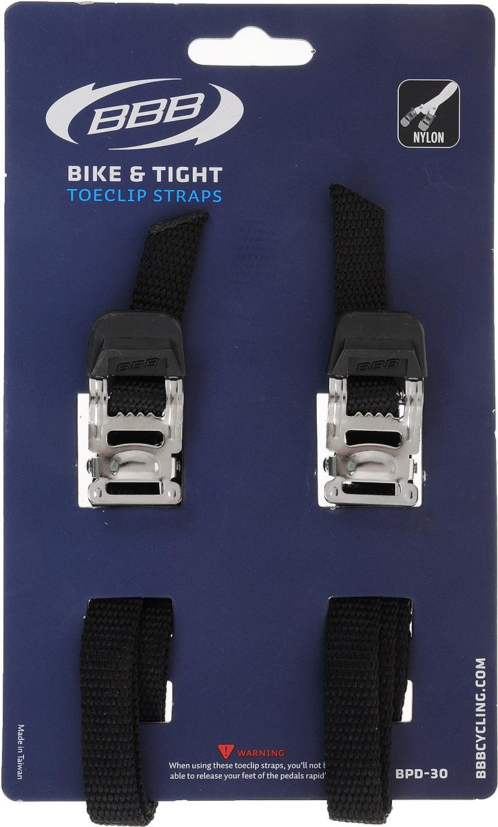 Стрепы для педалей BBB Bike & Tight Black, 2 штBPD-36Стрепы для педалей BBB Bike & Tight Black, выполненные из нейлона и металла, весьма грамотное сочетание эстетичности и практичности, созданное специально для вас и вашего дорогого двухколесного друга. Основными преимуществами данной модели стали: материал изготовления, тип конструкции, современный и модный дизайн, назначение, долговечность, износостойкость, надежный механизм застегивания.Порадуйте себя и свой любимый велосипед столь приятным, а главное, полезным аксессуаром, как туклипсы педальные. Длину можно регулировать при помощи фиксатора.Комплектация: 2 шт.Длина: 50 см.Ширина: 1 см.