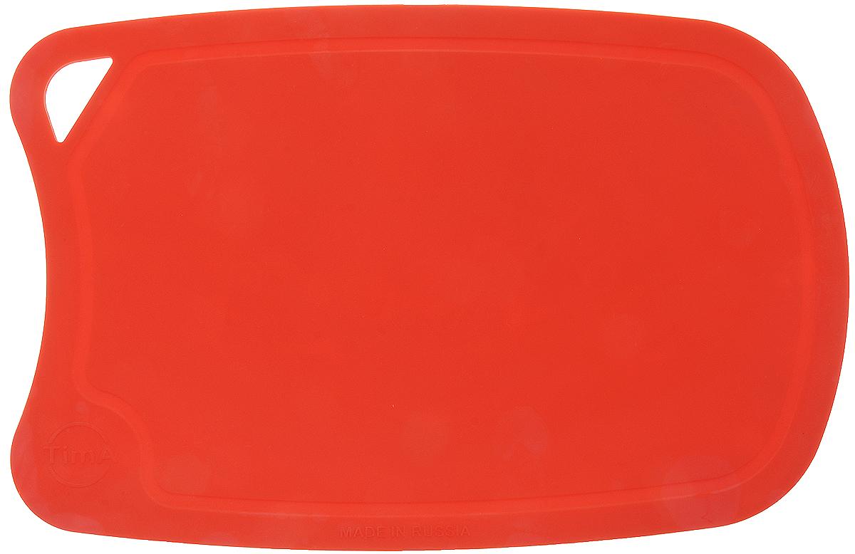 Доска разделочная TimA, цвет: коралловый, 28 х 19 см68/5/4Гибкая разделочная доска TimA, изготовленная из высококачественного полиуретана, займет достойное место среди аксессуаров на вашей кухне. Благодаря гибкости, с доски удобно высыпать нарезанные продукты. Она не тупит металлические и керамические ножи. Не впитывает влагу и легко моется. Обладает исключительной прочностью и износостойкостью.Доска TimA прекрасно подойдет для нарезки любых продуктов.Можно мыть в посудомоечной машине.