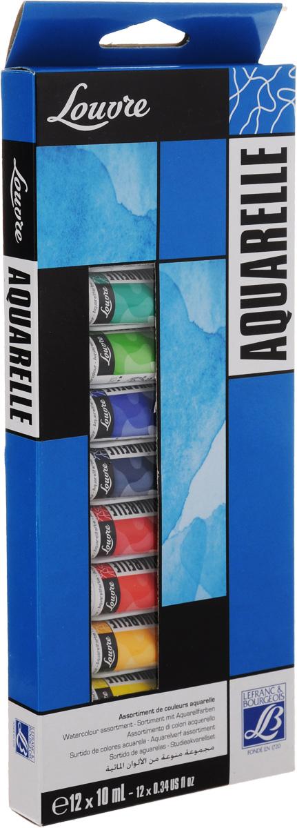 Набор акварельных красок Lefranc & Bourgeois Louvre, 10 мл, 12 штFS-00103Набор Lefranc & Bourgeois Louvre состоит из 12 тюбиков акварельной краски разных цветов. Акварель - тонкое взаимодействие цвета и воды. Используется для наложения различных цветов.