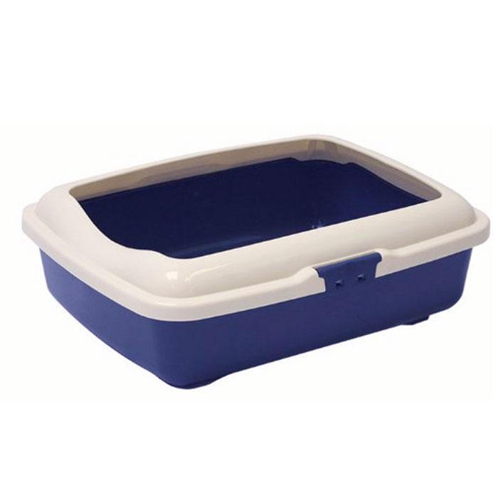 Туалет для кошек Marchioro Goa, с бортом, цвет: синий, серый, 37 см х 27 см х 12 см1066100100099Туалет для кошек Marchioro Goa изготовлен из качественного итальянского пластика с полированной поверхностью. Высокий борт, прикрепленный по периметру лотка, удобно защелкивается и предотвращает разбрасывание наполнителя. Благодаря специальным резиновым ножкам туалет не скользит по полу.