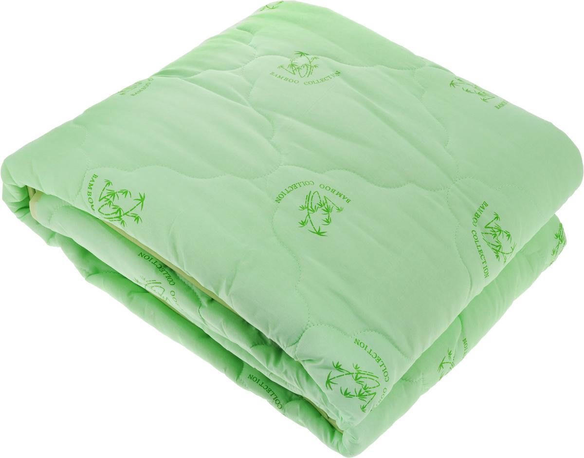Одеяло ЭГО, наполнитель: бамбуковое волокно, 172 х 205 см531-105Одеяло ЭГО подарит уютный и комфортный сон. Чехол одеяла выполнен из полиэстера и оформлен рисунком в виде бамбуковых стеблей. Внутри - наполнитель из бамбукового волокна. Такой наполнитель имеет массу достоинств: антибактериальные свойства, хорошую воздухонепроницаемость, прочность, гигроскопичность, экологичность. Кроме того, изделия с таким наполнителем очень просты в уходе - наполнитель не садится и не сбивается при стирке, обладает высокой прочностью и не впитывает запахи.Одеяло с бамбуковым наполнителем придется по душе людям, ценящим красоту и комфорт. Оригинальная стежка равномерно распределяет наполнитель в чехле. Такое одеяло дарит комфортный сон в любое время года. Одеяло легко стирается в стиральной машине и быстро высыхает. Ваше одеяло прослужит долго, а его изысканный внешний вид будет годами дарить вам уют.