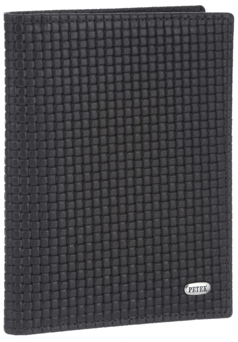 Обложка для автодокументов Petek 1855, цвет: темно-коричневый. 584.020.02Ветерок 2ГФОбложка для автодокументов Petek 1855 выполнена из высококачественной натуральной кожи и оформлена декоративным тиснением под плетение. На внутреннем развороте - съемный блок из шести прозрачных файлов из мягкого пластика, один из которых формата А5, два боковых кармана, один из которых сетчатый, и четыре прорезных кармашка для визиток и пластиковых карт. Обложка не только поможет сохранить внешний вид ваших документов и защитит их от повреждений, но и станет стильным аксессуаром, который подчеркнет ваш неповторимый стиль.