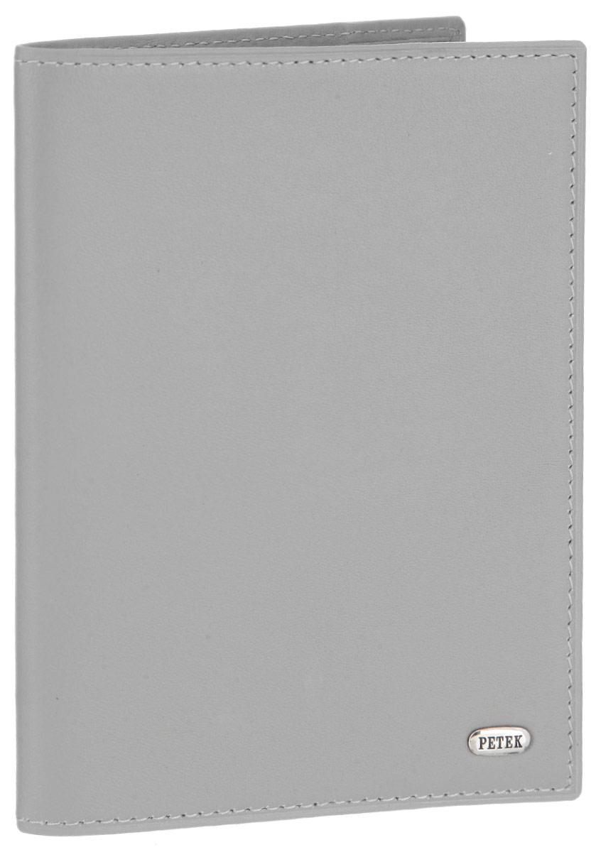 Обложка для паспорта Petek 1855, цвет: светло-серый. 581.167.90009 02 08Стильная обложка для паспорта Petek 1855 изготовлена из натуральной кожи и оформлена металлической пластиной с фирменной гравировкой. Изделие поставляется в фирменной коробке. Обложка для паспорта поможет сохранить внешний вид ваших документов и защитить их от повреждений, а также станет стильным аксессуаром.