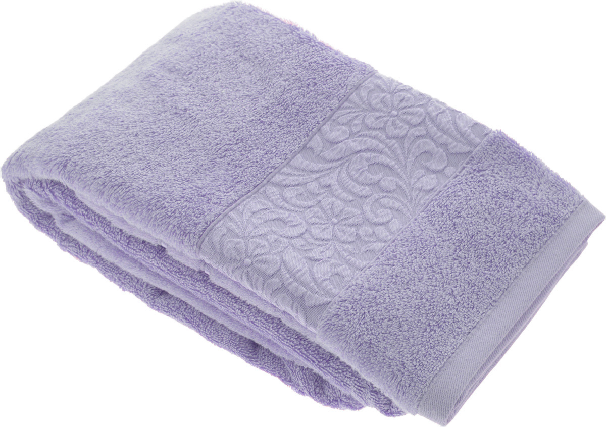 Полотенце бамбуковое Issimo Home Valencia, цвет: фиолетовый, 70 x 140 см68/5/4Полотенце Issimo Home Valencia выполнено из 60% бамбукового волокна и 40% хлопка. Таким полотенцем не нужно вытираться - только коснитесь кожи - и ткань сама все впитает. Такая ткань впитывает в 3 раза лучше, чем хлопок.Несмотря на высокую плотность, полотенце быстро сохнет, остается легкими даже при намокании.Изделие имеет красивый жаккардовый бордюр, оформленный цветочным орнаментом. Благородные, классические тона создадут уют и подчеркнут лучшие качества махровой ткани, а сочные, яркие, летние оттенки создадут ощущение праздника и наполнят дом энергией. Красивая, стильная упаковка этого полотенца делает его уже готовым подарком к любому случаю.