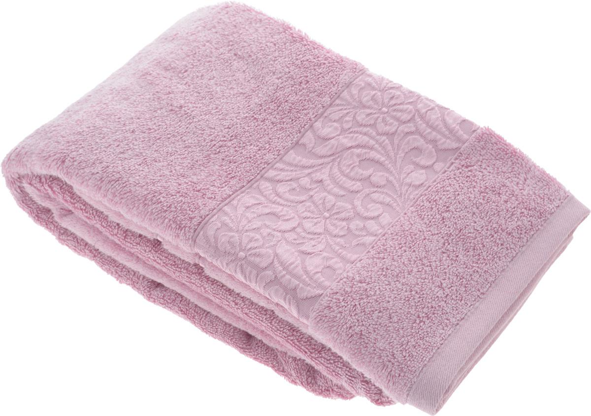Полотенце бамбуковое Issimo Home Valencia, цвет: светло-пурпурный, 70 x 140 смНПМбел-4Полотенце Issimo Home Valencia выполнено из 60% бамбукового волокна и 40% хлопка. Таким полотенцем не нужно вытираться - только коснитесь кожи - и ткань сама все впитает. Такая ткань впитывает в 3 раза лучше, чем хлопок.Несмотря на высокую плотность, полотенце быстро сохнет, остается легкими даже при намокании.Изделие имеет красивый жаккардовый бордюр, оформленный цветочным орнаментом. Благородные, классические тона создадут уют и подчеркнут лучшие качества махровой ткани, а сочные, яркие, летние оттенки создадут ощущение праздника и наполнят дом энергией. Красивая, стильная упаковка этого полотенца делает его уже готовым подарком к любому случаю.