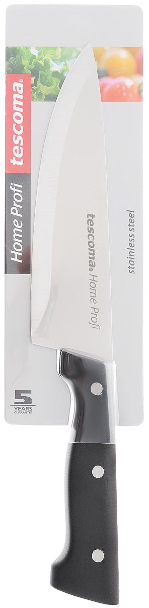 Нож кулинарный Tescoma Home Profi, длина лезвия 14 смSH-0045/16Кулинарный нож Tescoma Home Profi выполнен из высококачественной нержавеющей стали и дополнен эргономичной ручкой из пластика, что обеспечивает более удобное использование изделия. Нож с длинным широким клинком обеспечивает комфортную работу и быструю нарезку.Такой нож займет достойное место среди аксессуаров на вашей кухне.Можно мыть в посудомоечной машине.Длина ножа: 25 см.Длина лезвия: 14 см.