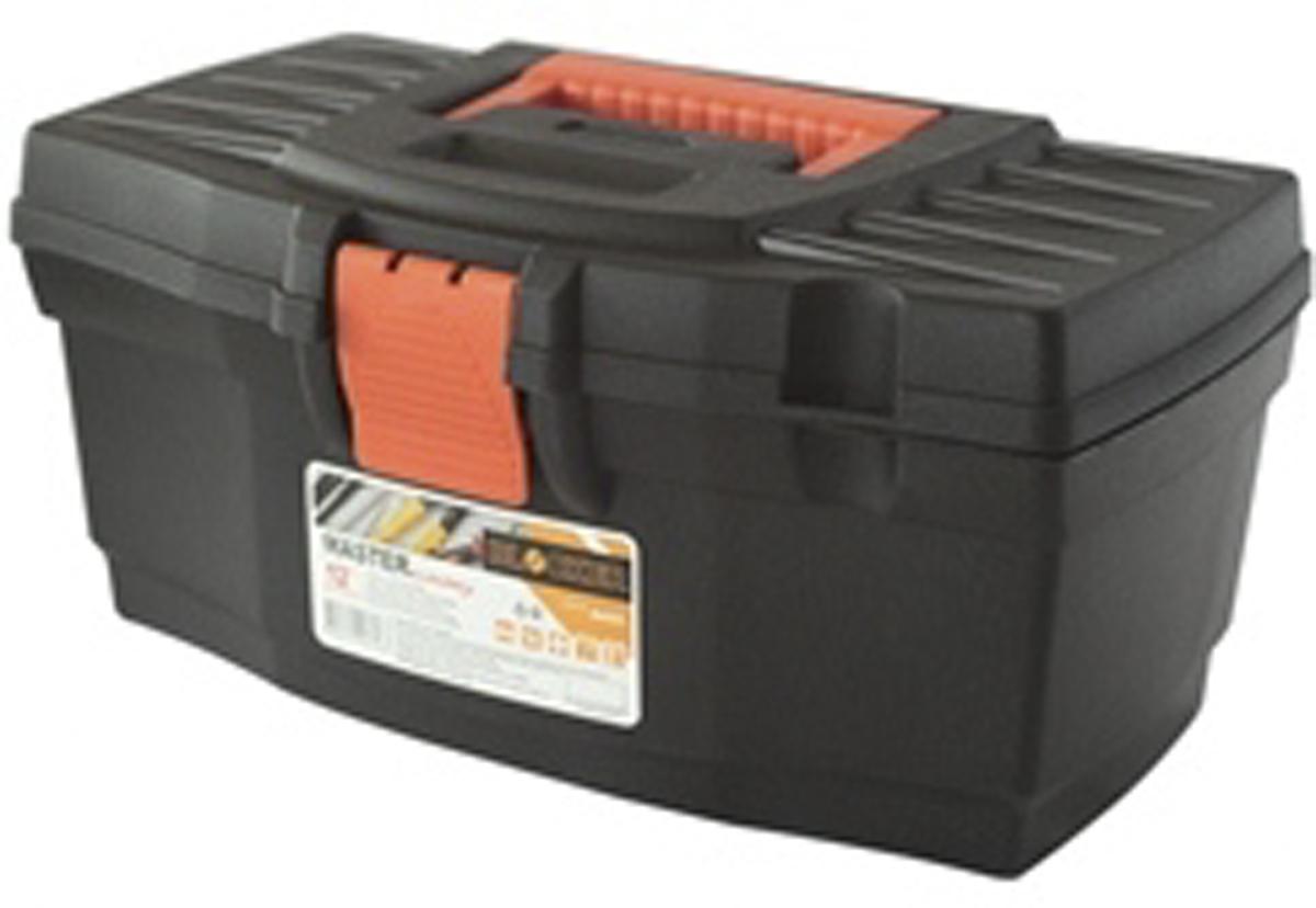 Ящик для инструментов Blocker Master Economy, цвет: черный, оранжевый, 320 х 185 х 152 мм98295719Ящик Blocker Master Economy - это классический ящик эконом-класса для хранения инструмента. Оптимальная форма, никаких переплат за дополнительные опции, но в тоже время абсолютно полноценный ящик с внутренним лотком. Крепкий и надежный. Отверстие для крепления навесного замка позволит защитить инструмент при транспортировке.