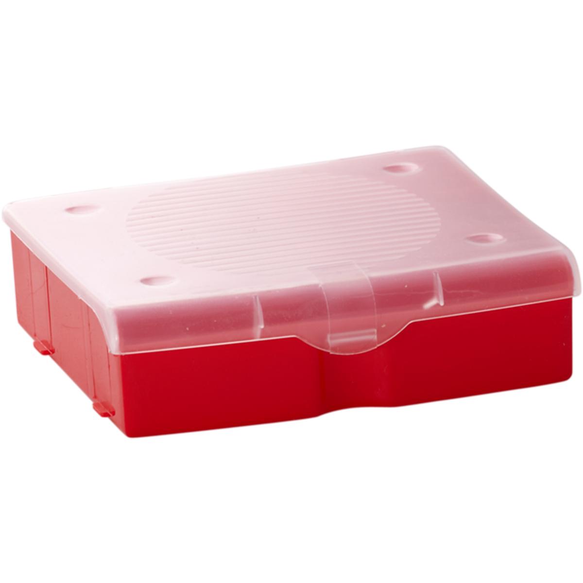 Органайзер для мелочей Blocker, цвет: красный, 17 х 16 х 4,5 смS03301004Органайзер для мелочей Blocker предназначен для оптимальной организациипространства. Внутреннее деление делает удобным размещениевнутри блока деталей, которые необходимо отделить друг от друга, а прозрачнаякрышка позволяет увидеть содержимое, не открывая блок. Подходит дляхранения швейных принадлежностей, мелких деталей и рыболовных снастей.Крышка плотно закрывается и предотвращает потерю содержимого.