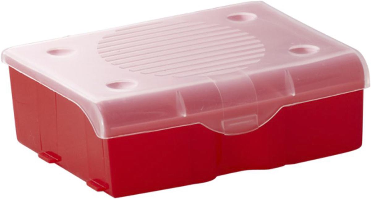 Органайзер для мелочей Blocker, цвет: красный, 11 х 9 х 4,2 см25051 7_желтыйОрганайзер для мелочей Blocker предназначен для оптимальной организации пространства. Внутреннее деление на 3 секции делает удобным размещение внутри блока деталей, которые необходимо отделить друг от друга, а прозрачная крышка позволяет увидеть содержимое, не открывая блок. Подходит для хранения швейных принадлежностей, мелких деталей и рыболовных снастей. Крышка плотно закрывается и предотвращает потерю содержимого.