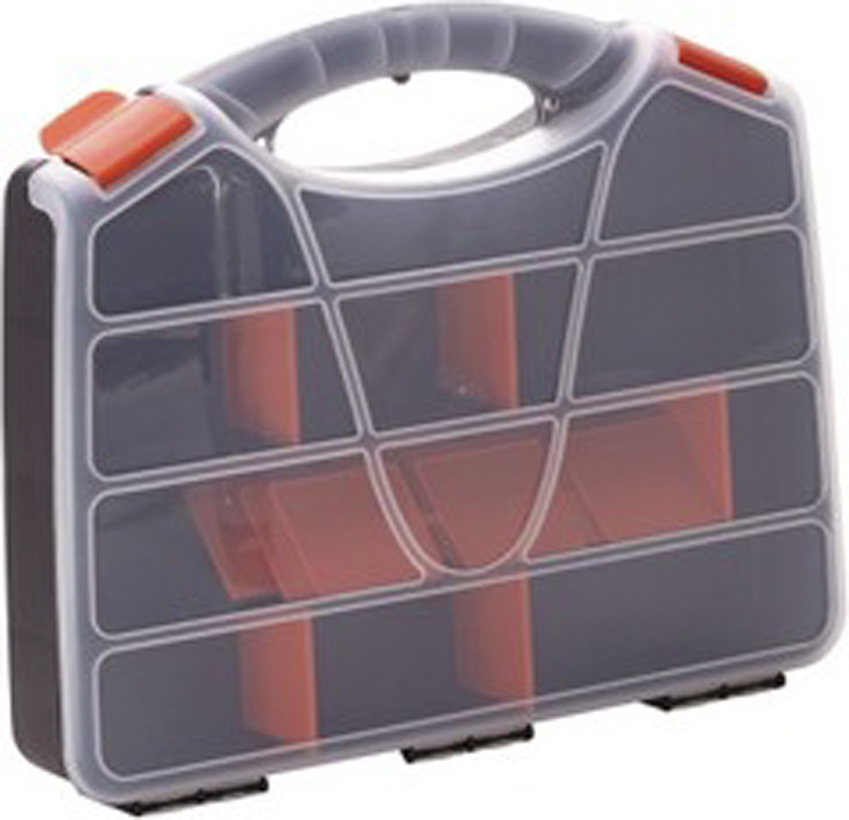 Органайзер для инструментов Blocker Profi, цвет: серый, оранжевый, 38 х 31 х 6,5 смPEP002 granitoУдобный органайзер Blocker Profi предназначен дляпереноски и хранения инструментов. Изделие выполненоиз высококачественного полипропилена и оснащено 21ячейкой. Прозрачная крышка, небольшой размер ипродуманная эргономика делают хранение любыхмелочей простым и эффективным. Надежные замкипредохраняют от случайного открытия. Съемныеразделители позволяют организовать пространство всоответствии с вашими пожеланиями.Размер ячеек: 5 х 5,5 см.Количество разделителей: 18 шт.