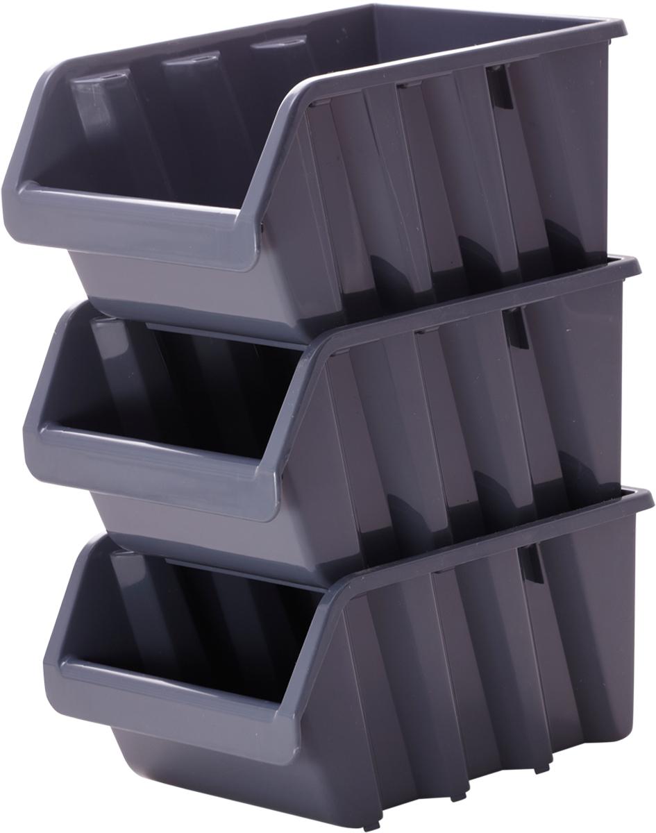 Лоток для метизов Blocker, цвет: серый, 24,5 х 17 х 12,5 см98295719Лоток Blocker, выполненный из высококачественного пластика, предназначендля хранения крепежа и мелкого инструмента. Имеется возможностьсоединения нескольких лотков одинакового размера в единый блок. Лотки надежно ставятся друг на друга за счет специальной системы крепления. Оптимальная конструкция передней части для удобного вынимания метизов.