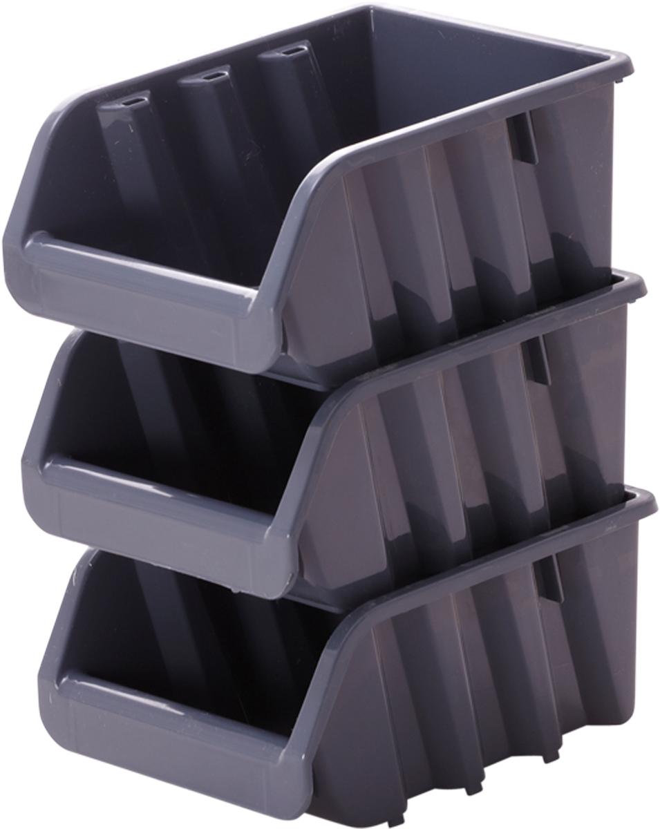 Лоток для метизов Blocker, цвет: серый, 37,5 х 22,5 х 16 см27977-H59Лоток Blocker, выполненный из высококачественного пластика, предназначендля хранения крепежа и мелкого инструмента. Имеется возможностьсоединения нескольких лотков одинакового размера в единый блок. Лотки надежно ставятся друг на друга за счет специальной системы крепления. Оптимальная конструкция передней части для удобного вынимания метизов.