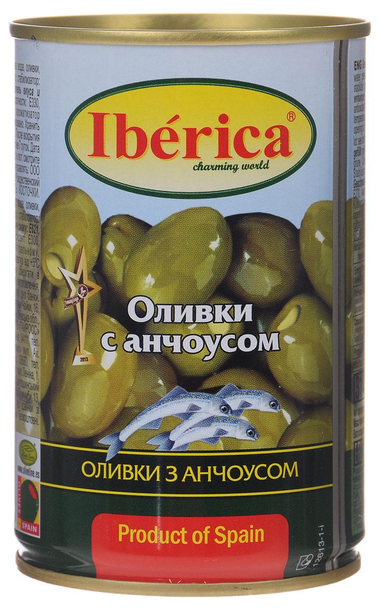 Iberica оливки с анчоусом, 300 г0120710Превосходные оливки Iberica с анчоусом. Оливки и маслины Iberica - давно знакомый потребителям бренд, один из лидеров в данной категории продуктов.