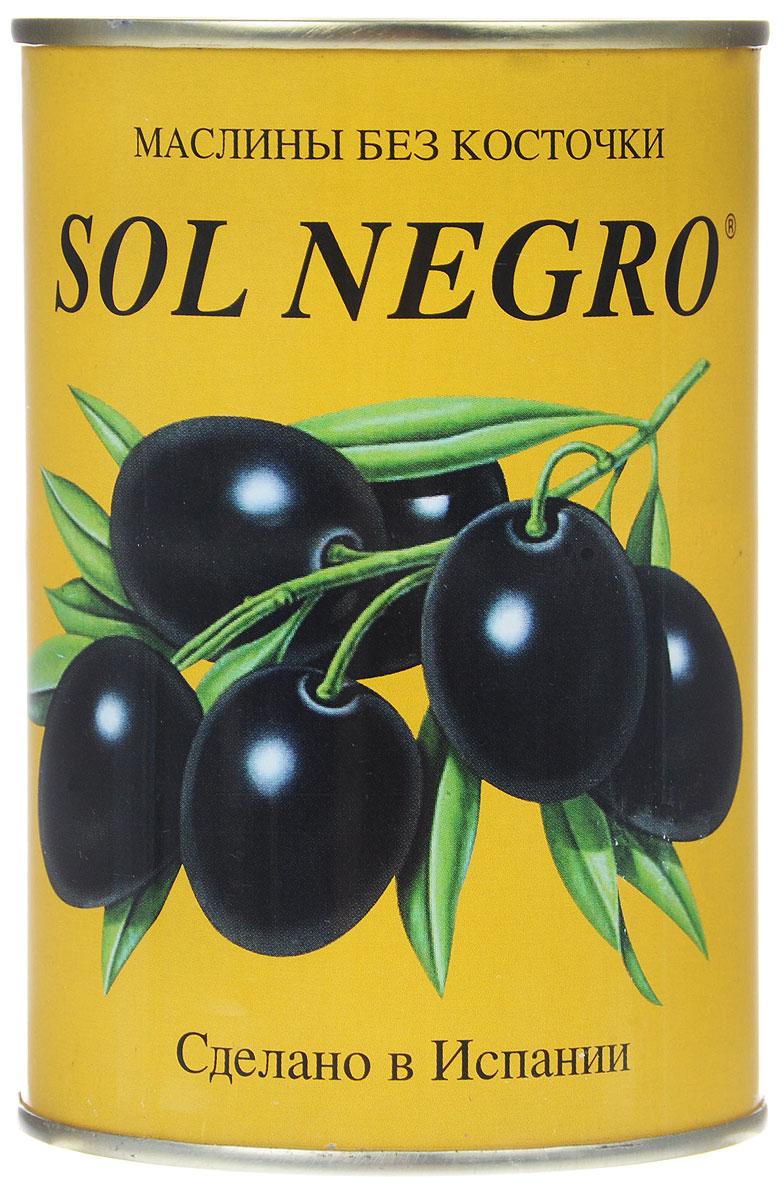 Sol Negro маслины черные без косточек, 480 г0120710Превосходные черные маслины Sol Negro без косточек. Оливки и маслины Sol Negro - давно знакомый потребителям бренд, один из лидеров в данной категории продуктов.