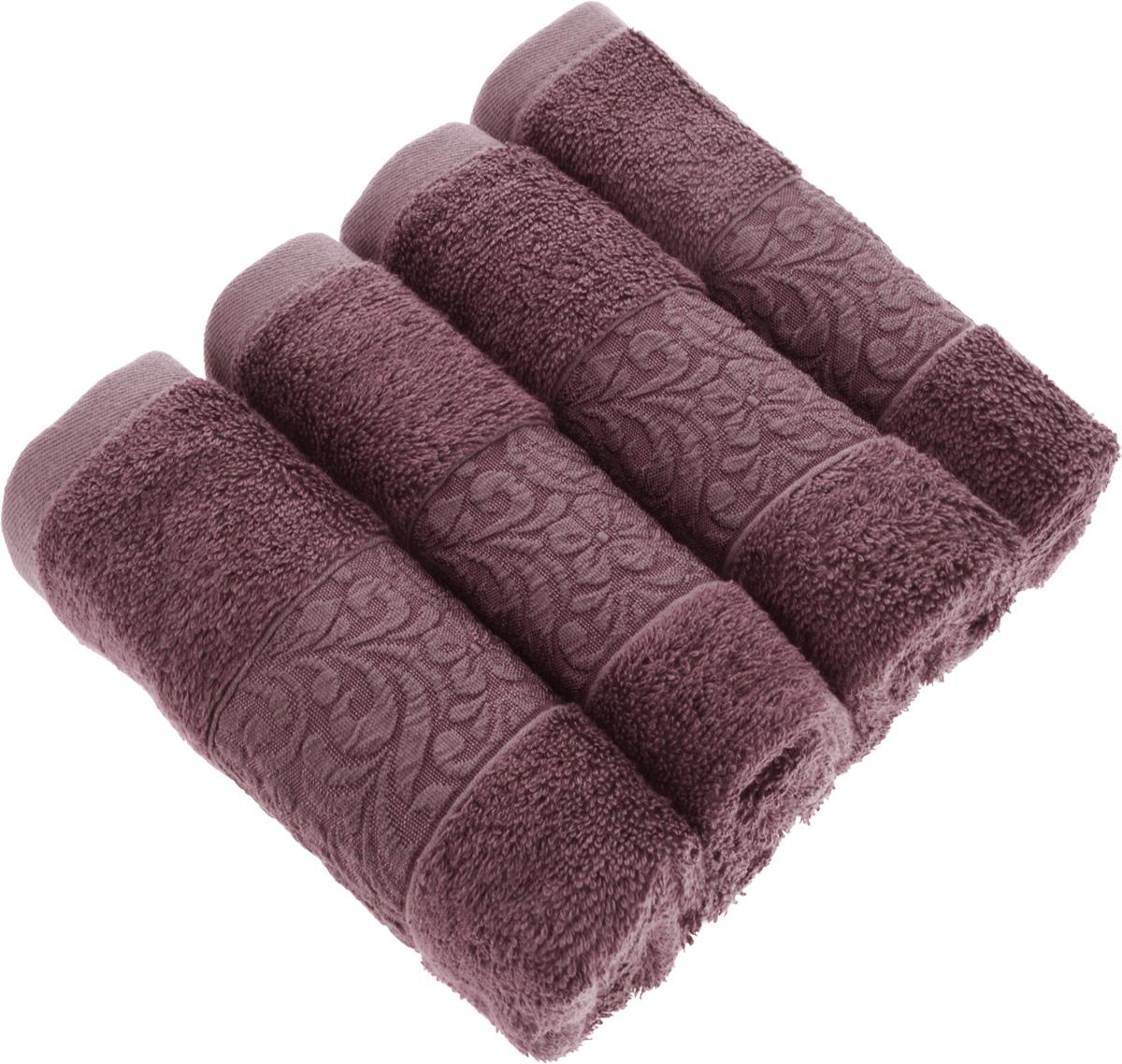 Набор бамбуковых полотенец Issimo Home Valencia, цвет: пыльная роза, 30 x 50 см, 4 штPR-2WПолотенца Issimo Home Valencia выполнены из 60% бамбукового волокна и 40% хлопка. Такими полотенцами не нужно вытираться - только коснитесь кожи - и ткань сама все впитает. Такая ткань впитывает в 3 раза лучше, чем хлопок.Набор из маленьких полотенец-салфеток очень практичен - он станет незаменимым в дороге и в путешествиях. Кроме того, это хороший, красивый и изысканный подарок.Несмотря на богатую плотность и высокую петлю полотенец, они быстро сохнут, остаются легкими даже при намокании.Набор бамбуковых полотенец имеет красивый жаккардовый бордюр, выполненный с орнаментом в цвет изделия. Благородные, классические тона создадут уют и подчеркнут лучшие качества махровой ткани, а сочные, яркие, летние оттенки создадут ощущение праздника и наполнят дом энергией. Красивая, стильная упаковка этих полотенец делает их уже готовым подарком к любому случаю.