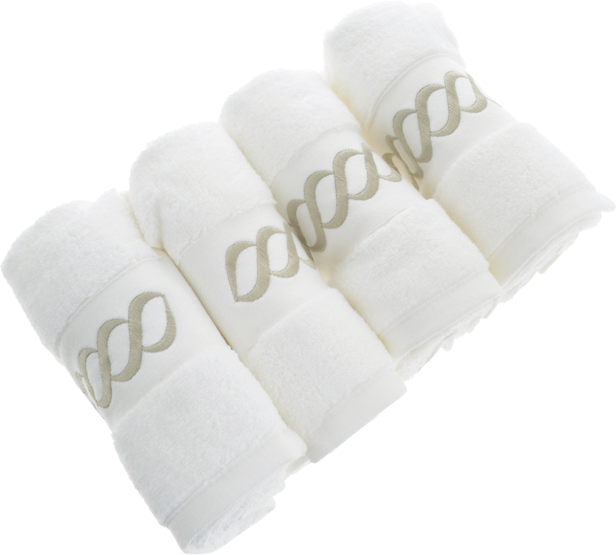 Набор махровых полотенец Issimo Home Pauline, цвет: белый, бежевый, 30 x 50 см, 4 шт1004900000360Набор полотенец Issimo Home Pauline выполнен из натуральной махровой ткани (100% хлопок). Изделия отлично впитывают влагу, быстро сохнут и не теряют форму даже после многократных стирок. Рекомендации по уходу:- режим стирки при 40°C,- допускается обычная химчистка,- отбеливание запрещено,- глажка при температуре подошвы утюга до 110°С,- барабанный отжим запрещен.Размер полотенца: 30 x 50 см.