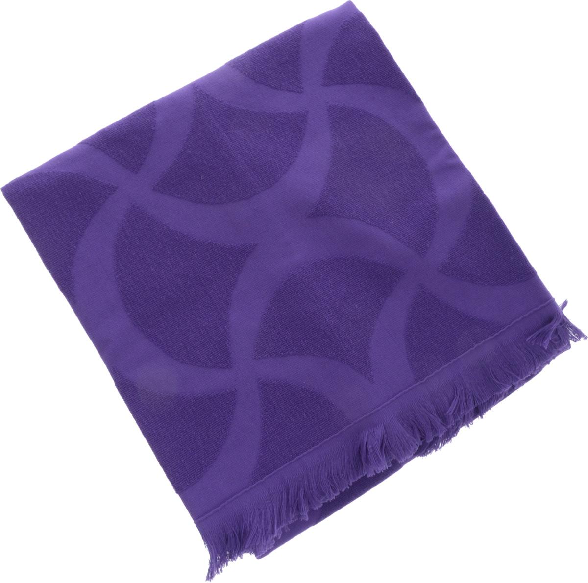 Полотенце Issimo Home Rondelle, цвет: фиолетовый, 70 x 140 см68/5/1Полотенце Issimo Home Rondelle выполнено из 100% хлопка. Изделие отлично впитывает влагу, быстро сохнет, сохраняет яркость цвета и не теряет форму даже после многократных стирок. Полотенце очень практично и неприхотливо в уходе. Оно прекрасно дополнит интерьер ванной комнаты.