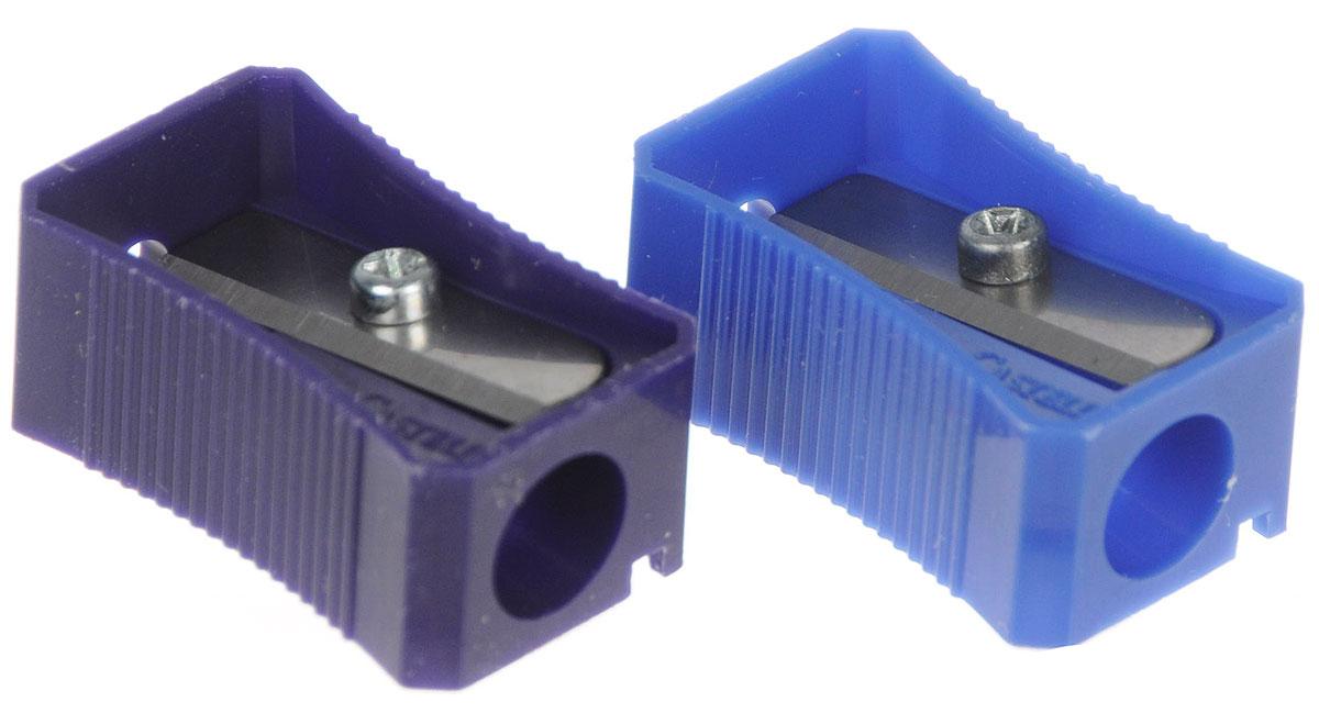 Faber-Castell Точилка цвет синий фиолетовый 2 штО.9*Точилка Faber-Castell предназначена для затачивания классических простых и цветных карандашей.В наборе две точилки из прочного пластика синего и фиолетового цветов с рифленой областью захвата. Острые лезвия обеспечивают высококачественную и точную заточку деревянных карандашей.
