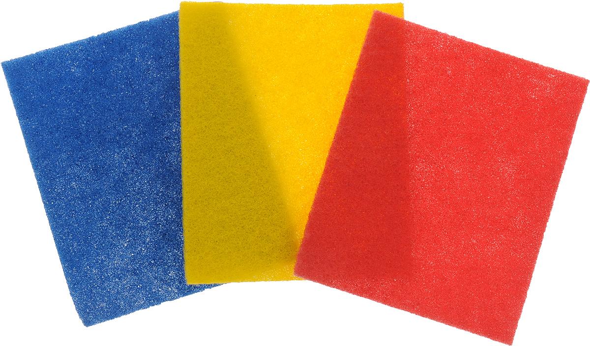 Мочалка для посуды абразивная Paclan, 3 штCLP446Мочалка хозяйственная эффективно устраняет сильные загрязнения. Имеют долгий срок службы. Прекрасно справляются с очисткой грилей, барбекю, решёток и других предметов для жарки