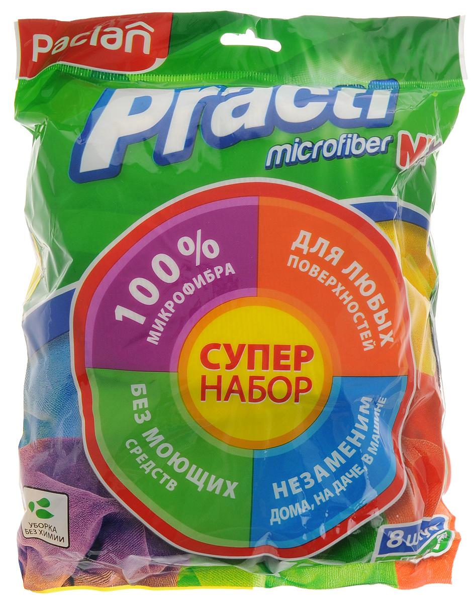 Набор универсальных хозяйственных салфеток из микрофибры Paclan Practi Mix, 8 шт531-105Набор универсальных хозяйственных салфеток Practi. Mix из микрофибры поможет вам справиться с любой работой по дому. Они очистят любую поверхность от пыли и грязи, не повреждая и не царапая поверхность.