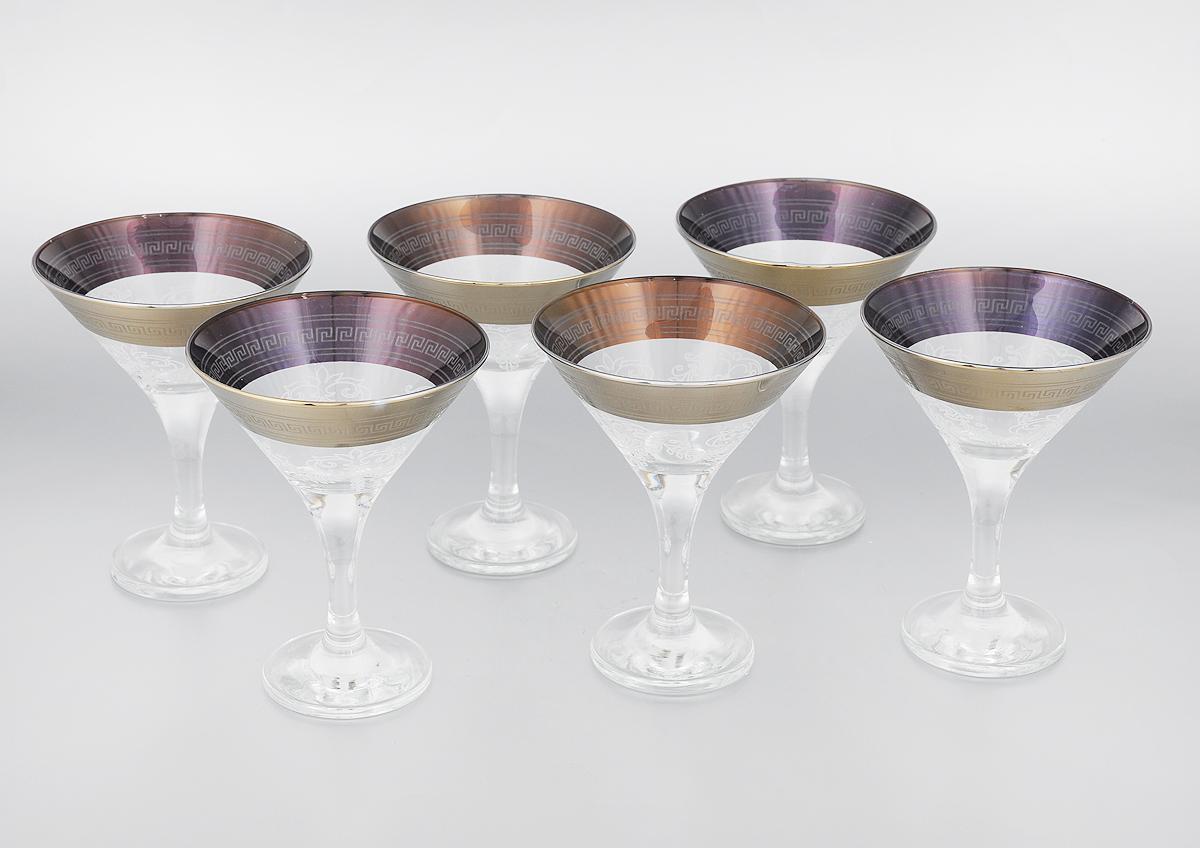 Набор бокалов для мартини Мусатов Гармония, 170 мл, 6 штVT-1520(SR)Набор Мусатов Гармония состоит из 6 бокалов, изготовленных из высококачественного стекла. Изделия оформлены оригинальной окантовкой и предназначены для подачи мартини. Такой набор прекрасно дополнит праздничный стол и станет желанным подарком в любом доме. Разрешается мыть в посудомоечной машине. Диаметр бокала (по верхнему краю): 11 см. Высота бокала: 13,7 см. Диаметр основания бокала: 6,5 см.