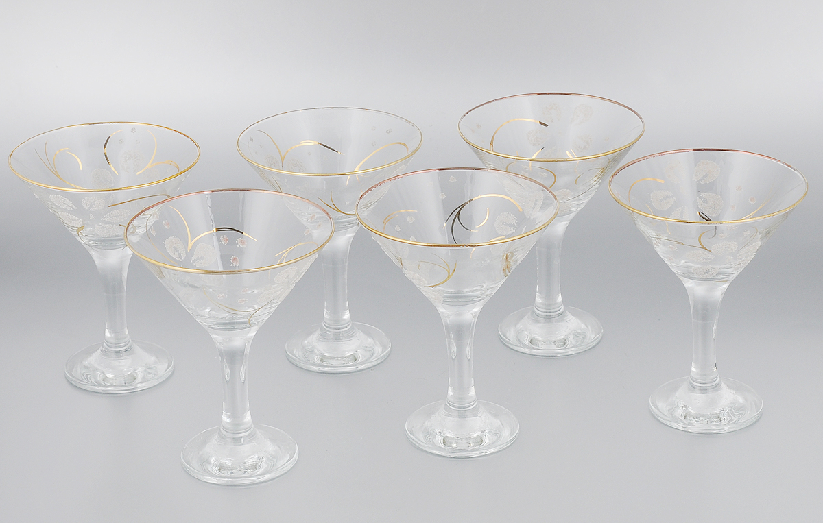 Набор бокалов для мартини Гусь-Хрустальный Клематис, 170 мл, 6 штVT-1520(SR)Набор Гусь-Хрустальный Клематис состоит из 6 бокалов, изготовленных из высококачественного стекла. Изделия предназначены для подачи мартини. Такой набор прекрасно дополнит праздничный стол и станет желанным подарком в любом доме. Разрешается мыть в посудомоечной машине. Диаметр бокала (по верхнему краю): 11 см. Высота бокала: 13,7 см. Диаметр основания бокала: 6,5 см.Уважаемые клиенты! Обращаем ваше внимание на незначительные изменения в дизайне товара, допускаемые производителем. Поставка осуществляется в зависимости от наличия на складе.
