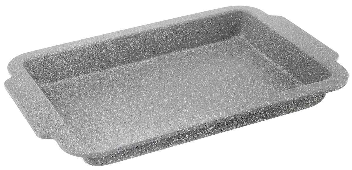 Противень Mayer & Boch, с мраморным покрытием, прямоугольный, 40,5 х 27 х 4 смFS-91909Противень Mayer & Boch изготовлен из углеродистой стали с антипригарным мраморным покрытием. Покрытие не оставляет послевкусия, делает возможным приготовление блюд без масла, сохраняет витамины и питательные вещества. Благодаря антипригарным свойствам, пища не пригорает и не прилипает к стенкам. Изделие легко чистится, а готовое блюдо легко вынимается и имеет аккуратный внешний вид. Противень идеально подходит для запекания всевозможных блюд из мяса и овощей, а также выпечки из теста. Изделие подходит только для духового шкафа. Не рекомендуется использовать в посудомоечной машине.