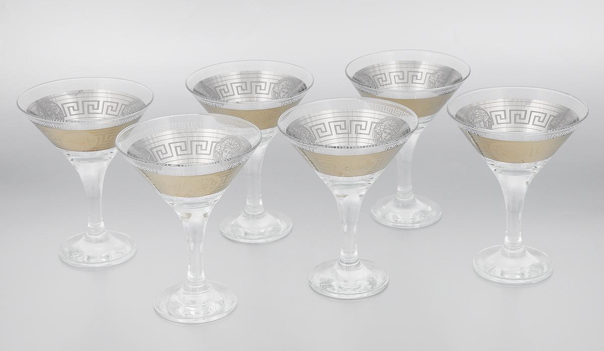 Набор бокалов для мартини Мусатов Йети, 170 мл, 6 штVT-1520(SR)Набор Мусатов Йети состоит из 6 бокалов, изготовленных из высококачественного стекла. Изделия оформлены оригинальной окантовкой и предназначены для подачи мартини. Такой набор прекрасно дополнит праздничный стол и станет желанным подарком в любом доме. Разрешается мыть в посудомоечной машине. Диаметр бокала (по верхнему краю): 11 см. Высота бокала: 13,7 см. Диаметр основания бокала: 6,5 см.
