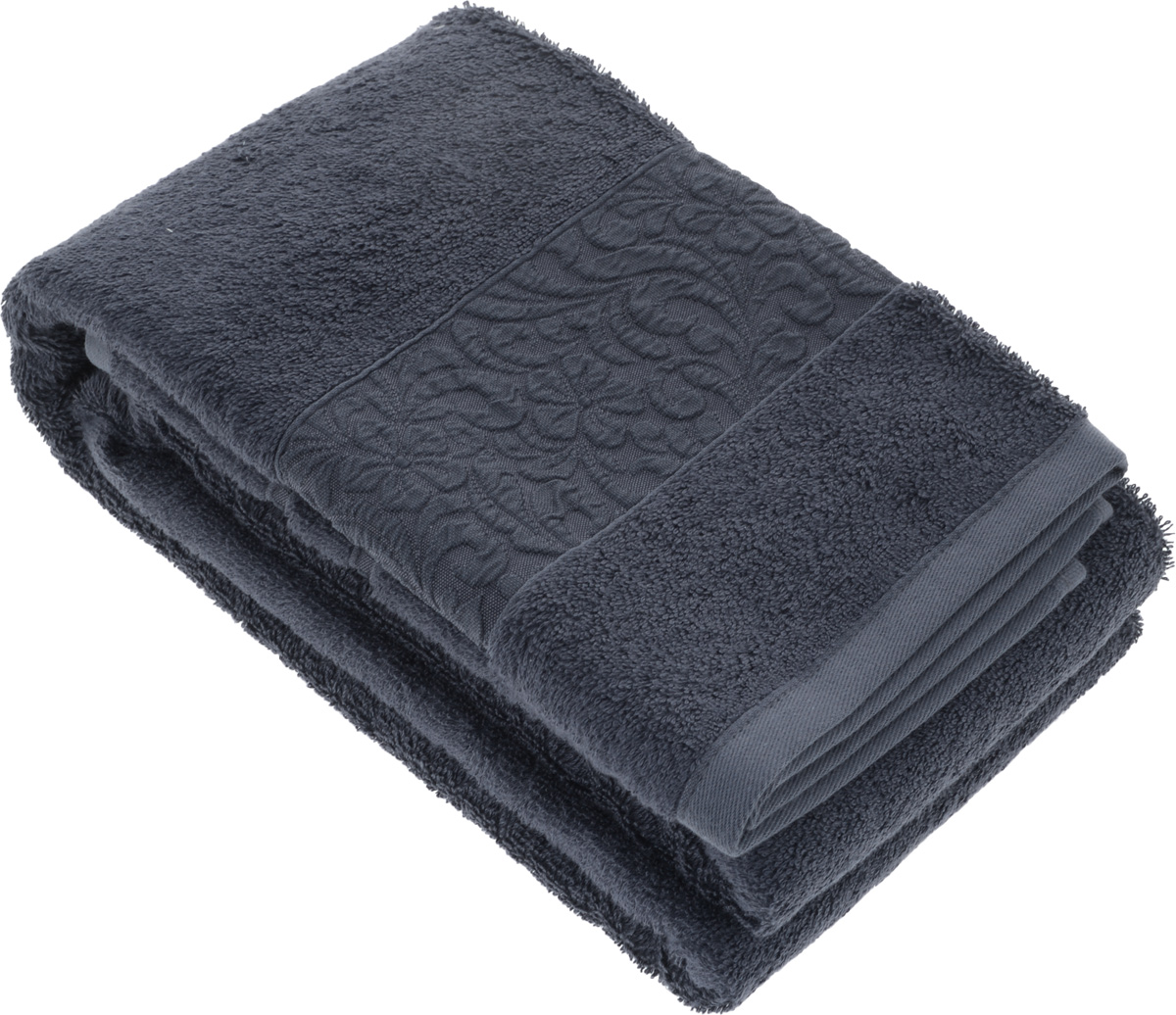 Полотенце бамбуковое Issimo Home Valencia, цвет: темно-синий, 70 x 140 см1004900000360Полотенце Issimo Home Valencia выполнено из 60% бамбукового волокна и 40% хлопка. Таким полотенцем не нужно вытираться - только коснитесь кожи - и ткань сама все впитает. Такая ткань впитывает в 3 раза лучше, чем хлопок.Несмотря на высокую плотность, полотенце быстро сохнет, остается легкими даже при намокании.Изделие имеет красивый жаккардовый бордюр, оформленный цветочным орнаментом. Благородные, классические тона создадут уют и подчеркнут лучшие качества махровой ткани, а сочные, яркие, летние оттенки создадут ощущение праздника и наполнят дом энергией. Красивая, стильная упаковка этого полотенца делает его уже готовым подарком к любому случаю.