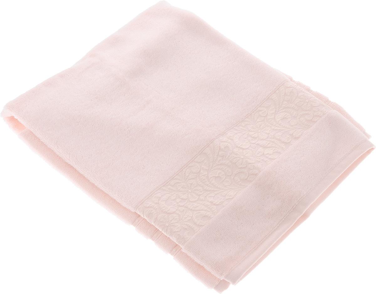 Полотенце бамбуковое Issimo Home Valencia, цвет: светло-розовый, 50 x 90 см68/5/1Полотенце Issimo Home Valencia выполнено из 60% бамбукового волокна и 40% хлопка. Таким полотенцем не нужно вытираться - только коснитесь кожи - и ткань сама все впитает. Такая ткань впитывает в 3 раза лучше, чем хлопок.Несмотря на высокую плотность, полотенце быстро сохнет, остается легкими даже при намокании.Изделие имеет красивый жаккардовый бордюр, оформленный цветочным орнаментом. Благородные, классические тона создадут уют и подчеркнут лучшие качества махровой ткани, а сочные, яркие, летние оттенки создадут ощущение праздника и наполнят дом энергией. Красивая, стильная упаковка этого полотенца делает его уже готовым подарком к любому случаю.