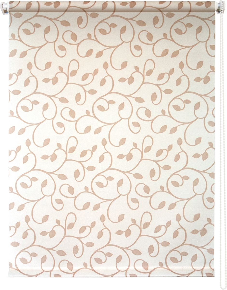 Штора рулонная Уют Вереск, цвет: бежевый, светло-бежевый, 140 х 175 см штора рулонная уют ажур цвет коричневый 140 х 175 см