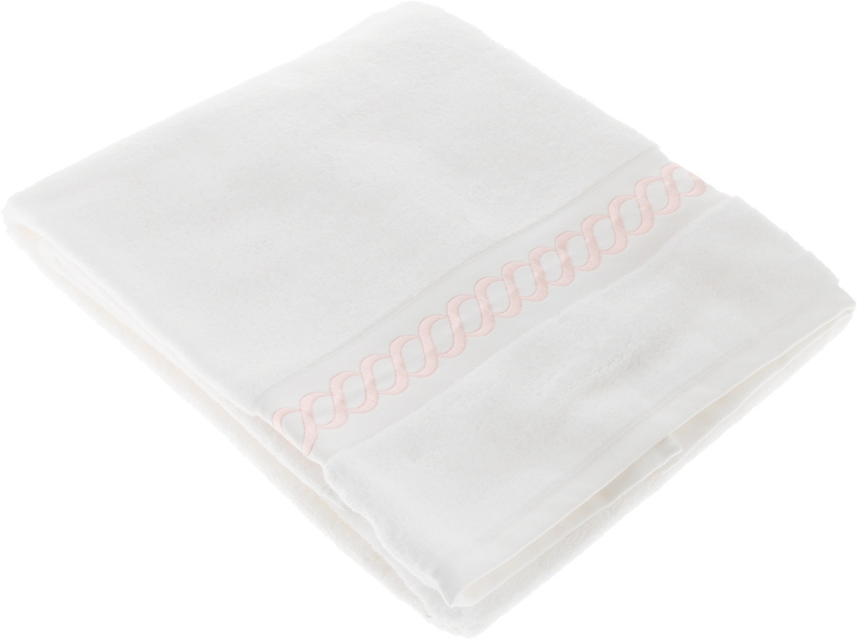 Полотенце махровое Issimo Home Pauline, цвет: белый, розовый, 70 x 140 см68/5/3Полотенце Issimo Home Pauline выполнено из натуральной махровой ткани (100% хлопок). Изделие отлично впитывает влагу, быстро сохнет и не теряет форму даже после многократных стирок. Рекомендации по уходу:- режим стирки при 40°C,- допускается обычная химчистка,- отбеливание запрещено,- глажка при температуре подошвы утюга до 110°С,- барабанный отжим запрещен.Размер полотенца: 70 x 140 см.