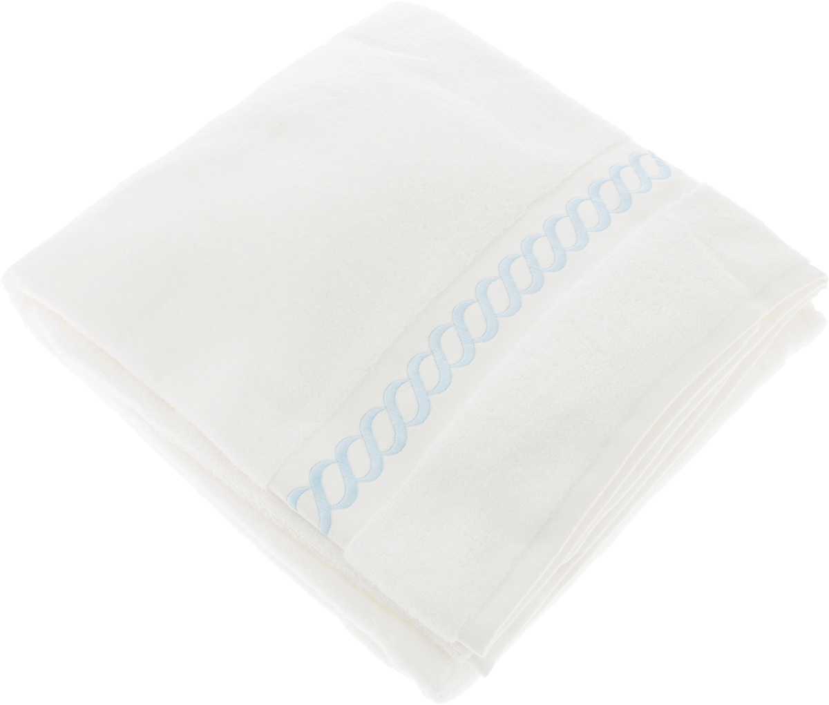 Полотенце махровое Issimo Home Pauline, цвет: белый, голубой, 90 x 150 см1004900000360Полотенце Issimo Home Pauline выполнено из натуральной махровой ткани (100% хлопок). Изделие отлично впитывает влагу, быстро сохнет и не теряет форму даже после многократных стирок. Рекомендации по уходу:- режим стирки при 40°C,- допускается обычная химчистка,- отбеливание запрещено,- глажка при температуре подошвы утюга до 110°С,- барабанный отжим запрещен.Размер полотенца: 90 x 150 см.